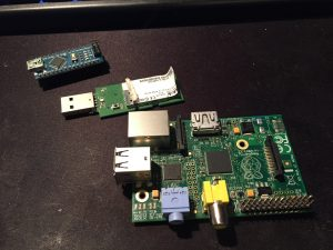 A pi, an Arduino and a random USB D-Link WiFi key